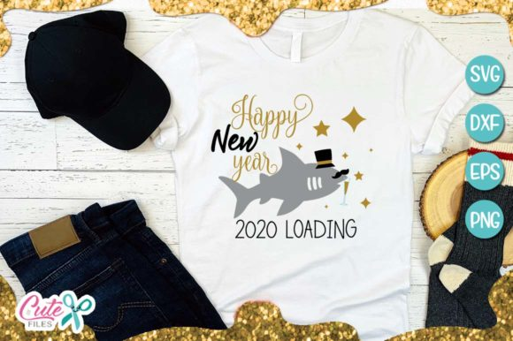 Download Free Happy New Year Graphic By Cute Files Creative Fabrica for Cricut Explore, Silhouette and other cutting machines.