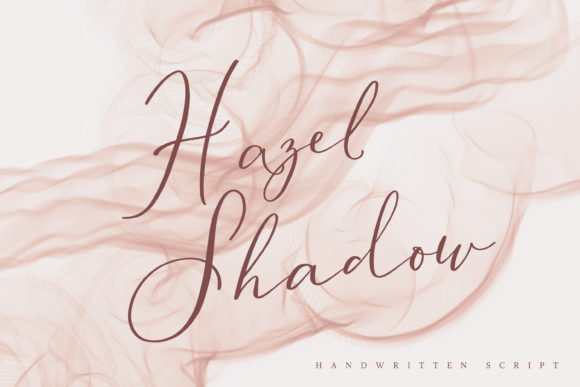 Print on Demand: Hazel Shadow Script & Handwritten Font By Primafox Design