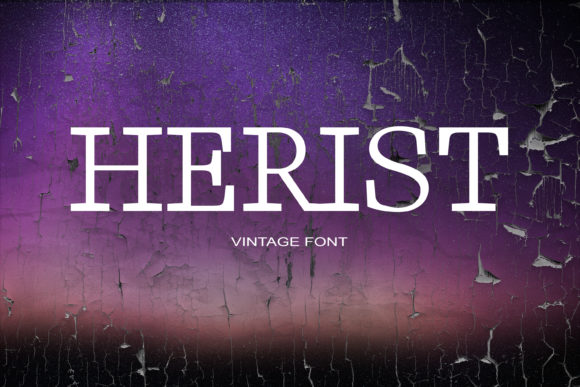Print on Demand: Herist Serif Font By maxim.90.ivanov - Image 1