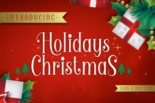 Holidays Christmas Font By Dani (7NTypes)