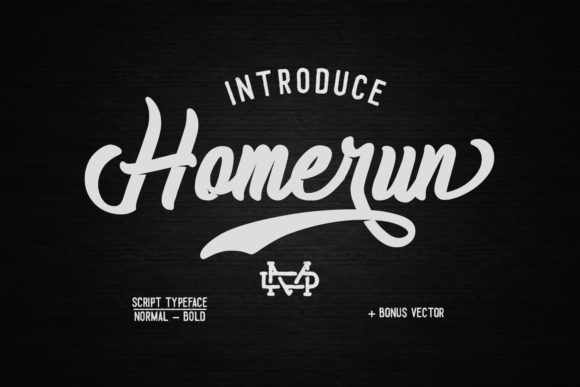 Print on Demand: Homerun Script Script & Handwritten Font By madeDeduk
