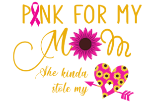 Download Free I Wear Pink For My Mom Graphic By Monopole499707 Creative Fabrica for Cricut Explore, Silhouette and other cutting machines.
