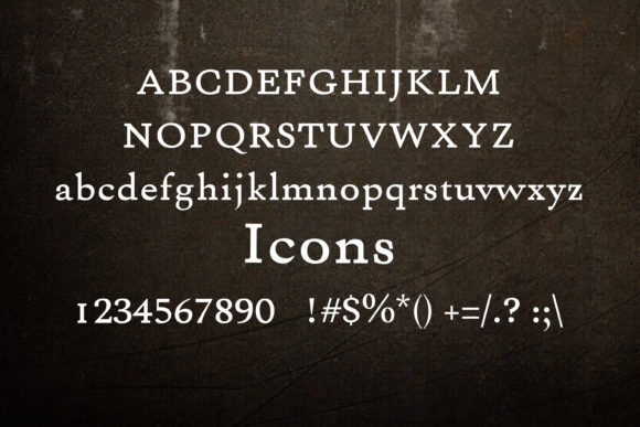 Print on Demand: Icons Serif Font By maxim.90.ivanov - Image 2
