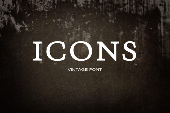 Print on Demand: Icons Serif Font By maxim.90.ivanov - Image 1
