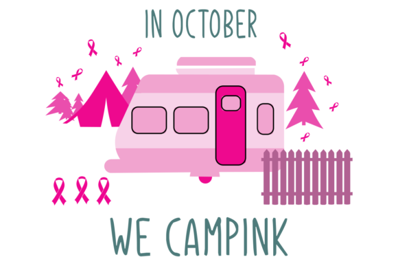Print on Demand: In October We Campink Breast Cancer Gift Graphic Print Templates By monopole499707