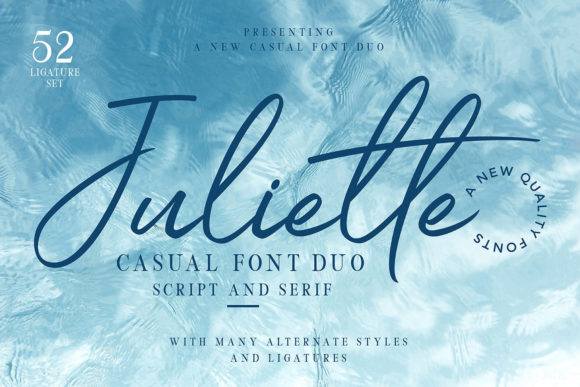 Print on Demand: Juliette Duo Display Font By Ngene