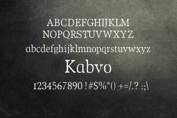 Print on Demand: Kabvo Serif Font By maxim.90.ivanov - Image 2