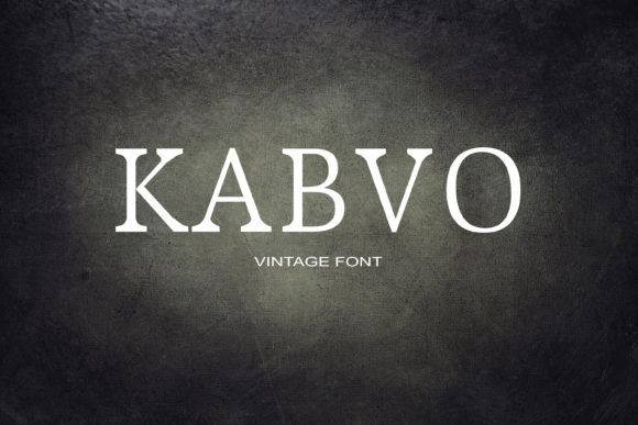 Print on Demand: Kabvo Serif Font By maxim.90.ivanov - Image 1