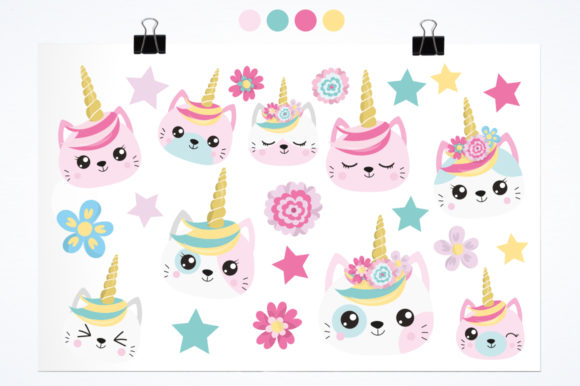 Kawaii Cats Graphic By Prettygrafik Image 2
