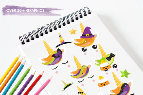 Print on Demand: Kawaii Unicorn Graphic Illustrations By Prettygrafik - Image 3