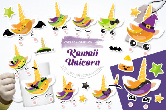 Print on Demand: Kawaii Unicorn Graphic Illustrations By Prettygrafik - Image 1