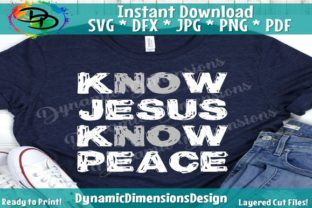 Know Jesus Know Peace Graphic By dynamicdimensions