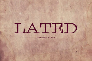Lated Font By maxim.90.ivanov