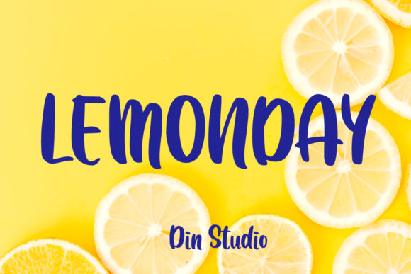 Print on Demand: Lemonday Script & Handwritten Font By Din Studio