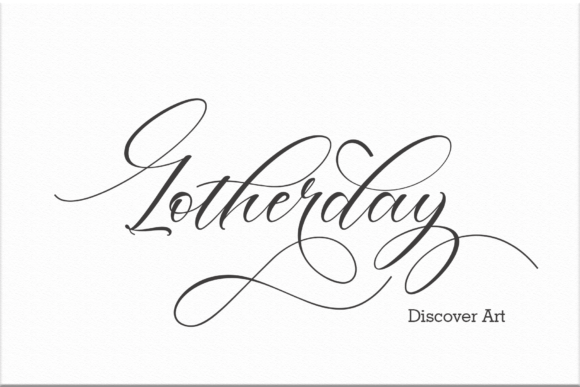 Print on Demand: Lotherday Script & Handwritten Font By Sinfa.co