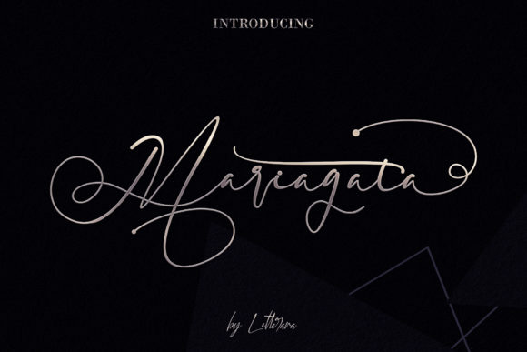 Print on Demand: Mariagata Script & Handwritten Font By thomasaradea