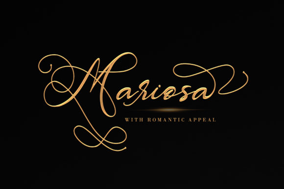 Print on Demand: Mariosa Script & Handwritten Font By thomasaradea