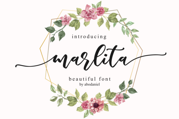 Print on Demand: Marlita Script & Handwritten Font By Abodaniel