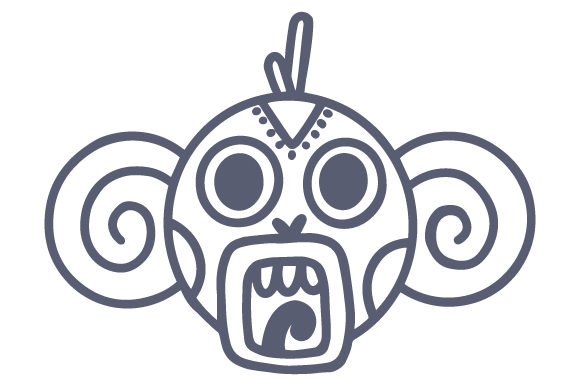Mayan Monkey Mexico Craft Cut File By Creative Fabrica Crafts