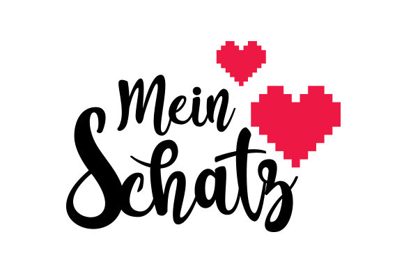 Download Free Mein Schatz Svg Cut File By Creative Fabrica Crafts Creative for Cricut Explore, Silhouette and other cutting machines.