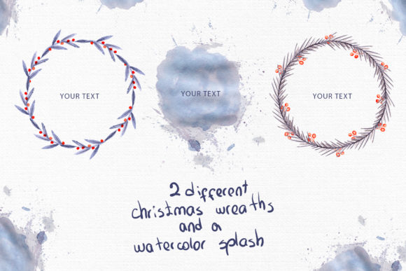Download Free Meowy Christmas Watercolor Collection Graphic By Tanatadesign SVG Cut Files