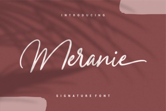 Print on Demand: Meranie Script & Handwritten Font By Garisman Studio