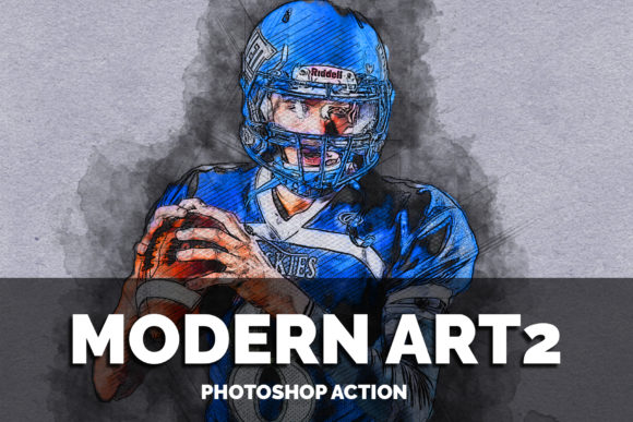 Modern Art2 Photoshop Action Graphic Actions & Presets By jubair_haider