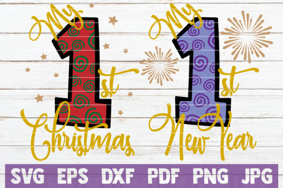 My First Christmas/New Year Graphic Graphic Templates By MintyMarshmallows