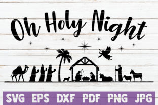 Nativity Oh Holy Night Graphic By MintyMarshmallows