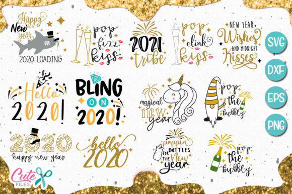 New Yeart Bundle Gráfico Por Cute files