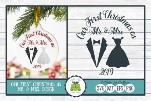 Our First Christmas As Mr. & Mrs. Graphic By funkyfrogcreativedesigns