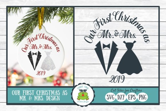 Download Free Our First Christmas As Mr Mrs Graphic By for Cricut Explore, Silhouette and other cutting machines.