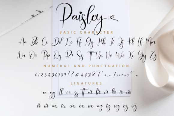Print on Demand: Paisley Script Script & Handwritten Font By NissaStudio - Image 11