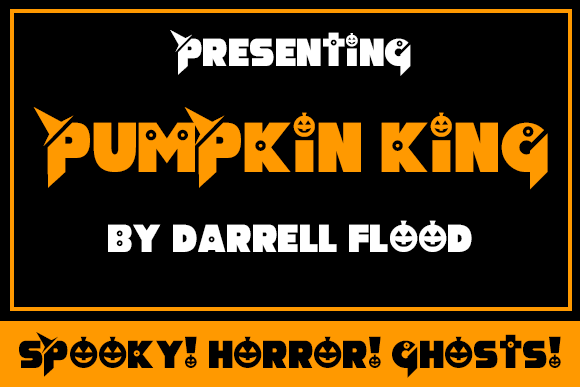 Print on Demand: Pumpkin King Display Font By Dadiomouse