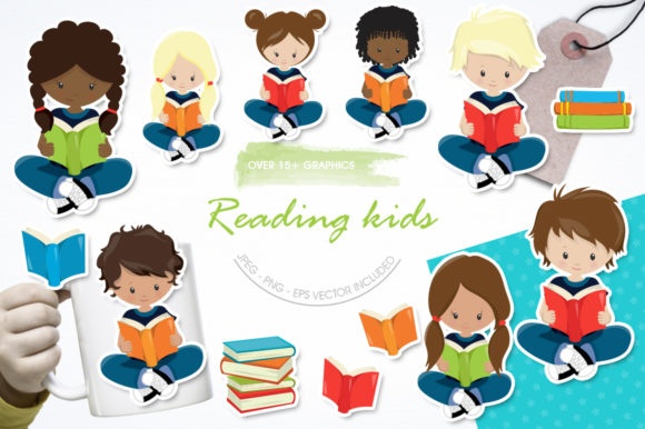 Print on Demand: Reading Kids Graphic Illustrations By Prettygrafik