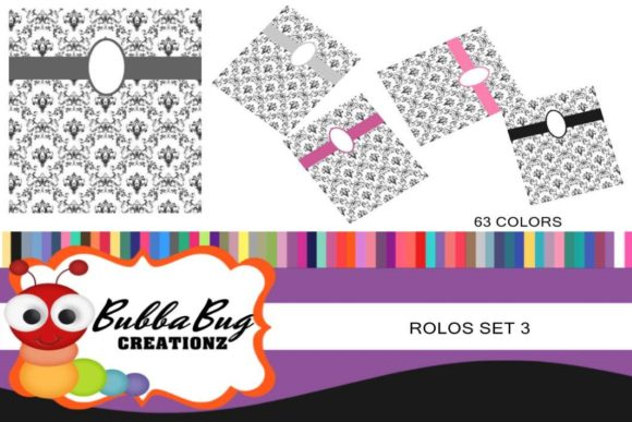Rolo Wraps Set 3 Graphic Crafts By BUBBABUG - Image 1