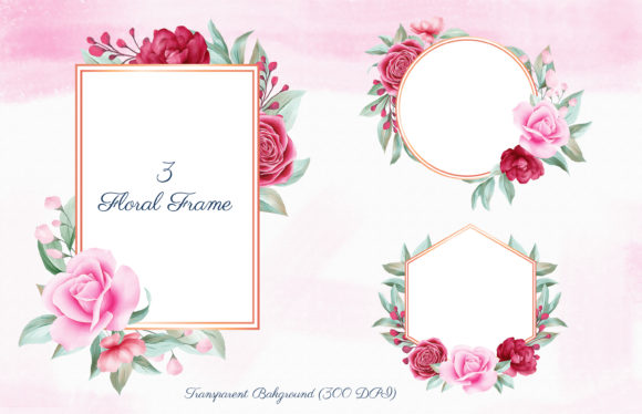 Romantic Watercolor Flowers Collection Graphic By KeepMakingArt Image 2