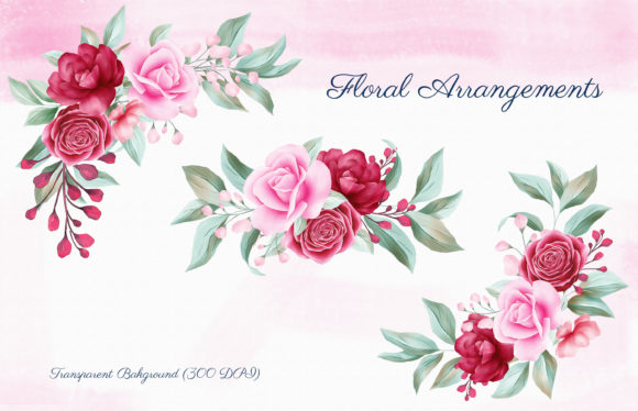 Romantic Watercolor Flowers Collection Graphic By KeepMakingArt Image 4