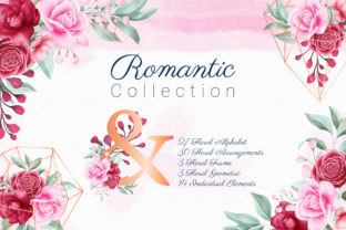 Romantic Watercolor Flowers Collection Graphic By KeepMakingArt