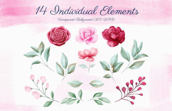 Romantic Watercolor Flowers Collection Graphic By KeepMakingArt Image 7