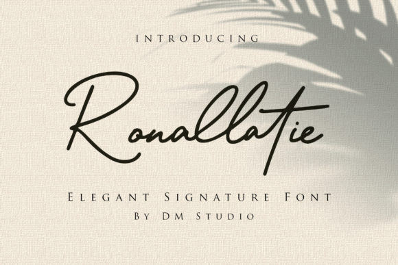 Print on Demand: Ronallatie Script & Handwritten Font By dmletter31 - Image 1