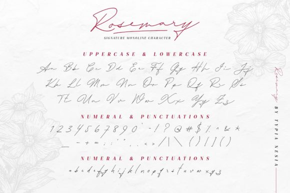 Print on Demand: Rosemary Script & Handwritten Font By Typia Nesia - Image 10