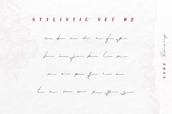 Print on Demand: Rosemary Script & Handwritten Font By Typia Nesia - Image 13