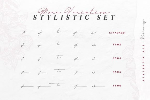 Print on Demand: Rosemary Script & Handwritten Font By Typia Nesia - Image 14