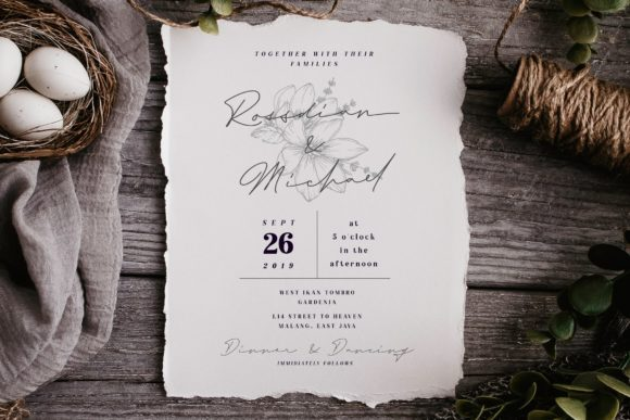 Print on Demand: Rosemary Script & Handwritten Font By Typia Nesia - Image 2