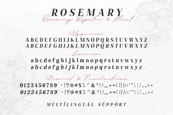 Print on Demand: Rosemary Serif Font By Typia Nesia - Image 8