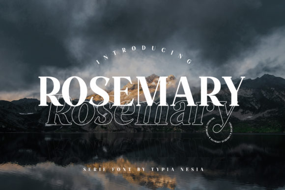 Print on Demand: Rosemary Serif Font By Typia Nesia - Image 1