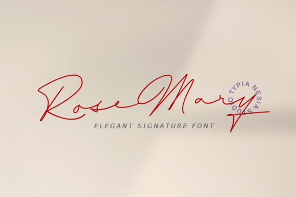 Print on Demand: Rosemary Script & Handwritten Font By Typia Nesia - Image 1