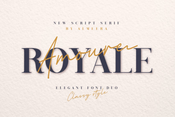 Print on Demand: Royale Amoure Serif Font By Almeera Studio - Image 1