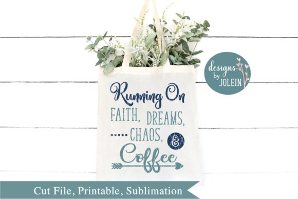 Print on Demand: Running on Faith Dreams Chaos Graphic Crafts By Designs by Jolein